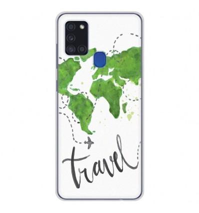 Coque en silicone pour Samsung Galaxy A21S - Map Travel
