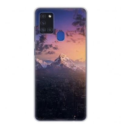 Coque en silicone Samsung Galaxy A21S - Montagnes urbaines