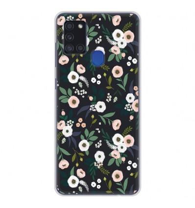 Coque en silicone Samsung Galaxy A21S - Flowers Noir