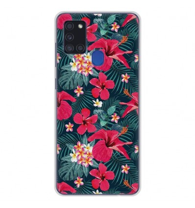 Coque en silicone Samsung Galaxy A21S - Hibiscus Fuchsia