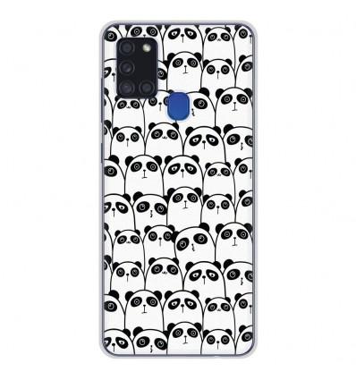 Coque en silicone Samsung Galaxy A21S - Réunion de Pandas