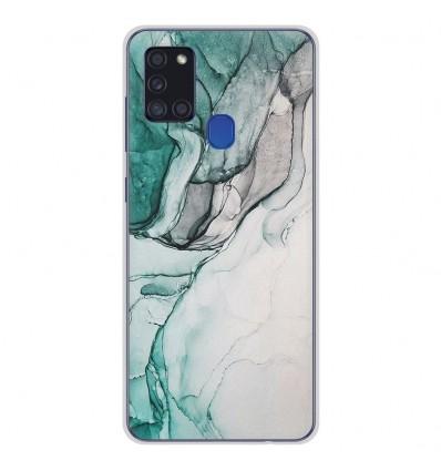 Coque en silicone Samsung Galaxy A21S - Zoom sur Pierre Vert