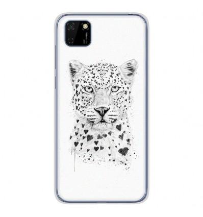 Coque en silicone Huawei Y5P - BS Love leopard