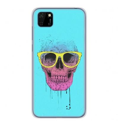 Coque en silicone Huawei Y5P - BS Skull glasses