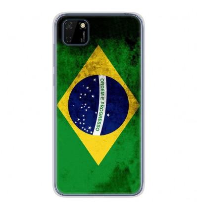 Coque en silicone Huawei Y5P - Drapeau Brésil