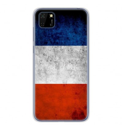 Coque en silicone Huawei Y5P - Drapeau France