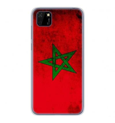 Coque en silicone Huawei Y5P - Drapeau Maroc