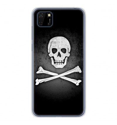 Coque en silicone Huawei Y5P - Drapeau Pirate