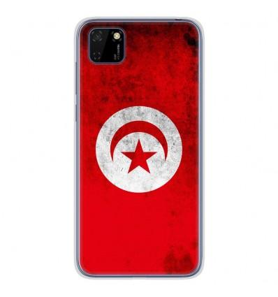 Coque en silicone Huawei Y5P - Drapeau Tunisie