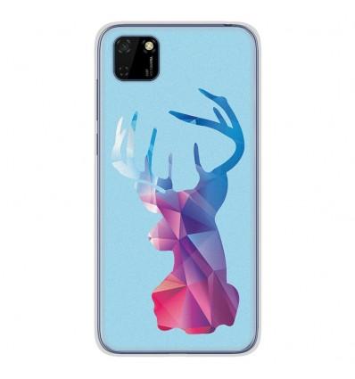 Coque en silicone Huawei Y5P - Cerf Hipster Bleu