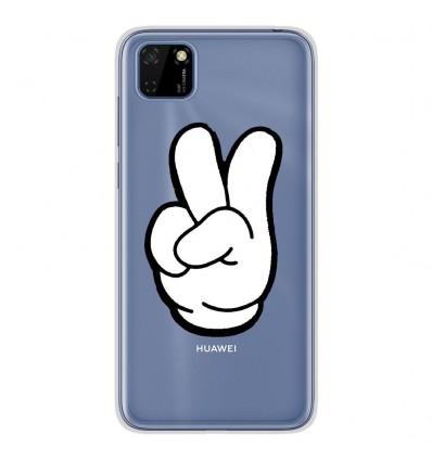 Coque en silicone Huawei Y5P - Swag Hand Blanc