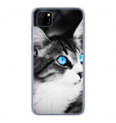 Coque en silicone pour Huawei Y5P - Chat yeux bleu