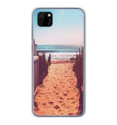 Coque en silicone Huawei Y5P - Chemin de plage