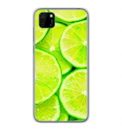 Coque en silicone Huawei Y5P - Citron