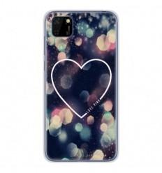 Coque en silicone Huawei Y5P - Coeur Love