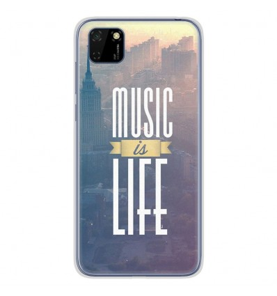 Coque en silicone Huawei Y5P - Music is life