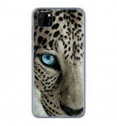 Coque en silicone Huawei Y5P - Oeil de léopard