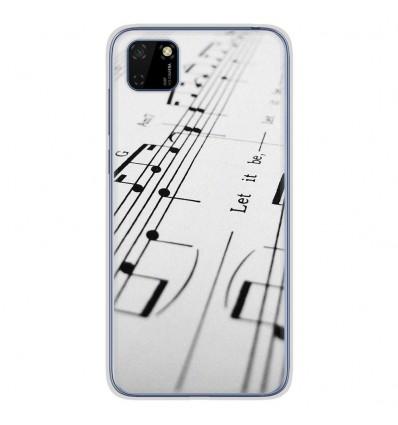 Coque en silicone Huawei Y5P - Partition de musique