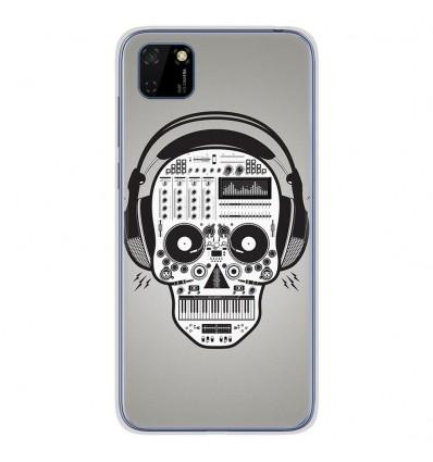 Coque en silicone Huawei Y5P - Skull Music