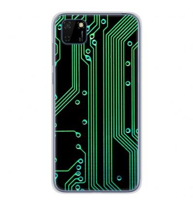 Coque en silicone Huawei Y5P - Texture circuit geek