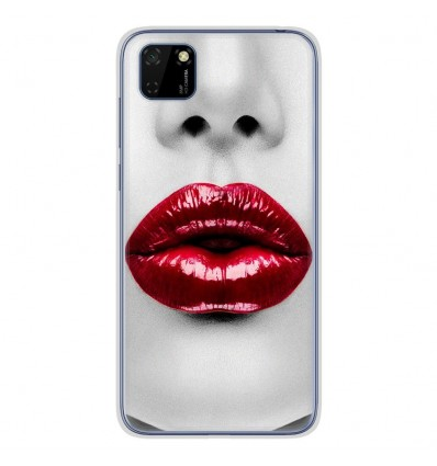 Coque en silicone Huawei Y5P - Lèvres Rouges