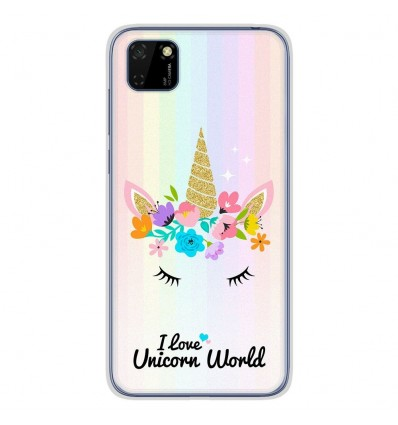 Coque en silicone Huawei Y5P - Unicorn World
