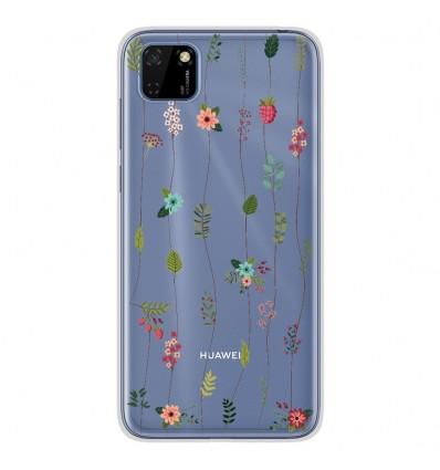 Coque en silicone Huawei Y5P - Montée de fleurs