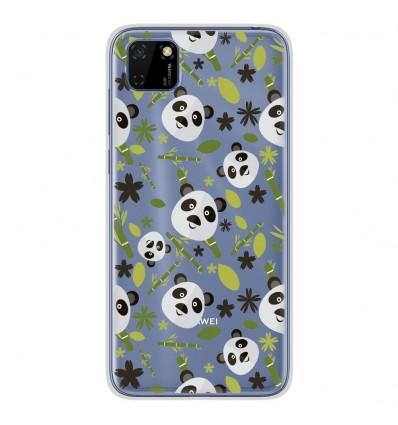 Coque en silicone pour Huawei Y5P - Pandas et Bambou