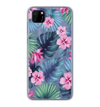 Coque en silicone Huawei Y5P - Tropical Aquarelle