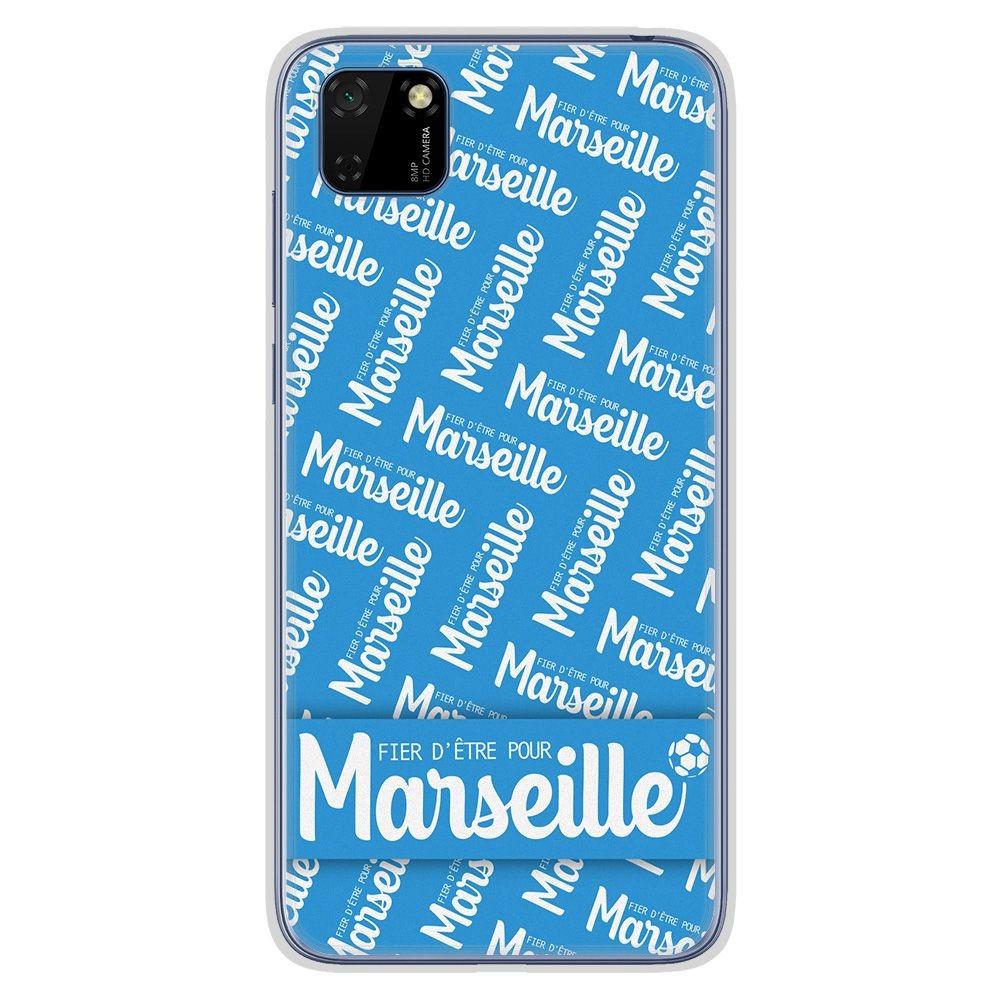 Coque en silicone Huawei Y5P - Fier d'être pour Marseille