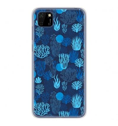 Coque en silicone Huawei Y5P - Corail bleu