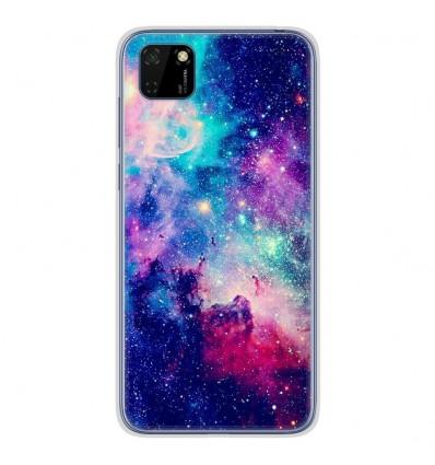 Coque en silicone Huawei Y5P - Galaxie Bleue