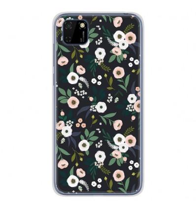Coque en silicone Huawei Y5P - Flowers Noir