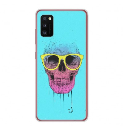 Coque en silicone Samsung Galaxy A41 - BS Skull glasses