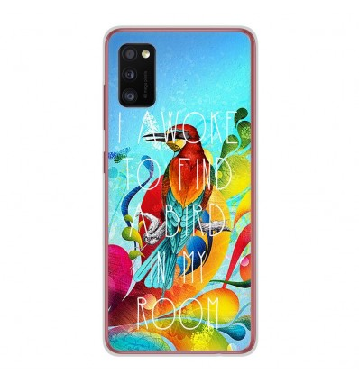 Coque en silicone Samsung Galaxy A41 - Mocking bird