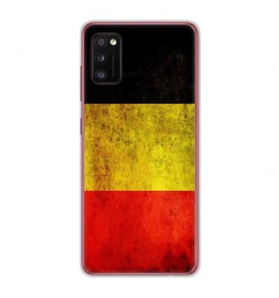 Coque en silicone Samsung Galaxy A41 - Drapeau Belgique