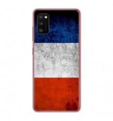 Coque en silicone Samsung Galaxy A41 - Drapeau France