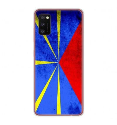 Coque en silicone Samsung Galaxy A41 - Drapeau La Réunion