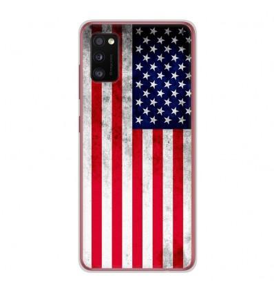 Coque en silicone Samsung Galaxy A41 - Drapeau USA