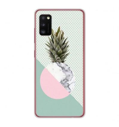 Coque en silicone Samsung Galaxy A41 - Ananas marbre