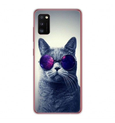 Coque en silicone Samsung Galaxy A41 - Chat à lunette