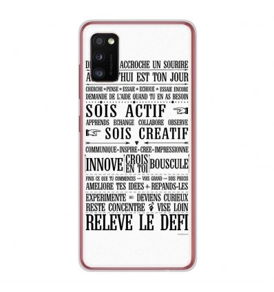 Coque en silicone Samsung Galaxy A41 - Citation 11