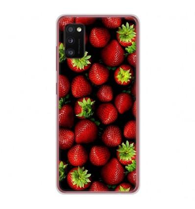 Coque en silicone Samsung Galaxy A41 - Fraises