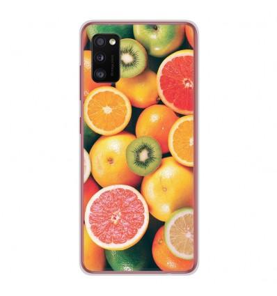 Coque en silicone Samsung Galaxy A41 - Fruits