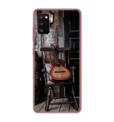 Coque en silicone Samsung Galaxy A41 - Guitare