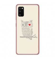 Coque en silicone Samsung Galaxy A41 - I Love Hiboux