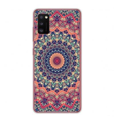 Coque en silicone Samsung Galaxy A41 - Mandalla rose