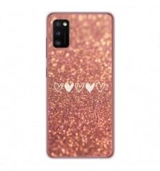 Coque en silicone Samsung Galaxy A41 - Paillettes coeur