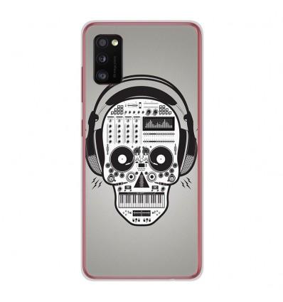 Coque en silicone Samsung Galaxy A41 - Skull Music