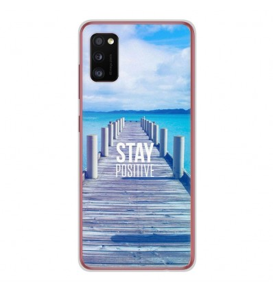 Coque en silicone Samsung Galaxy A41 - Stay positive